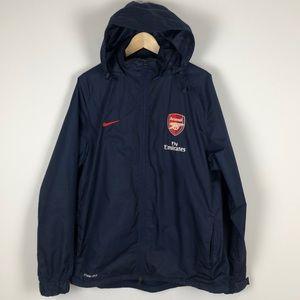 Arsenal Nike Storm Fit Rain Jacket in Blue - Large